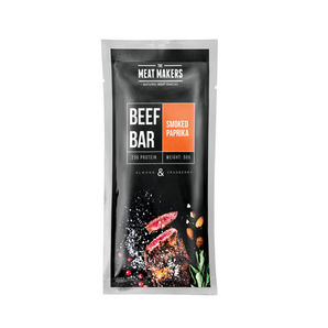 Beef bar - Smoked paprika, almond and cranberry beef jerky - 50g