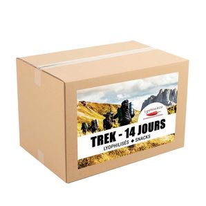 14-day pack - Freeze dried meals - Trek - 2 meals/day
