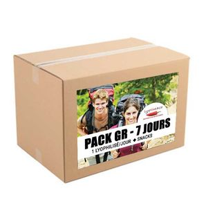 7-day pack - Freeze dried meals - Hiking trip - 1 big pack meal/day