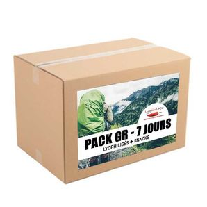 7-day pack - Freeze dried meals - Hiking trip - 2 meals/day