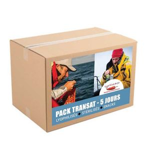 5-day pack - Freeze dried meals and sterilised meals with snacks - Sea trip