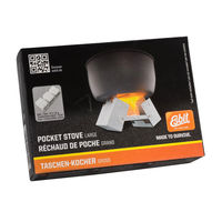 Pocket cooking stove and 12 x 14 g solid fuels - Esbit